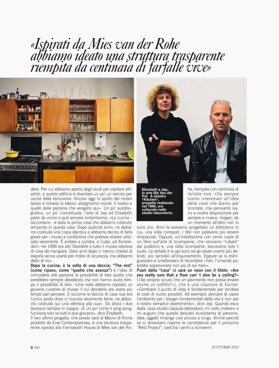 D-magazine – Bik van der Pol editorial