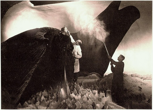 On the set of Faust. 1926