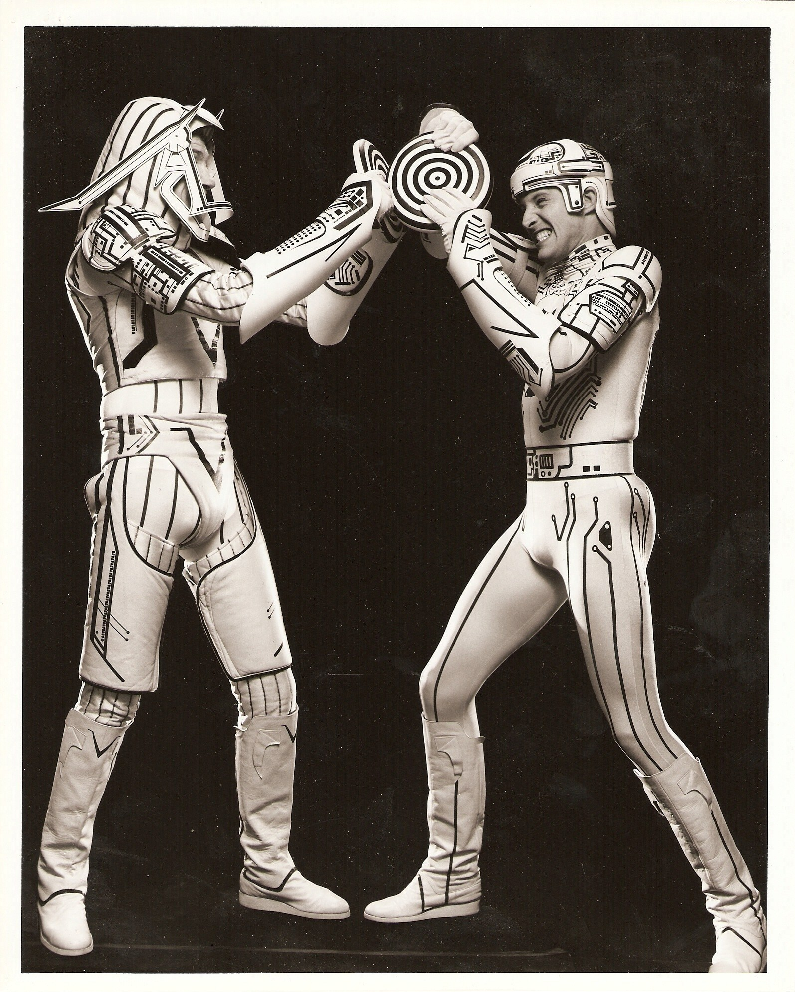 Tron (1982) — David Warner and Bruce Boxleitner fuck around in costume.